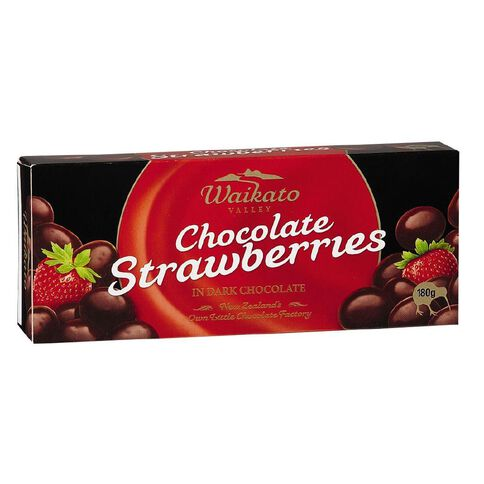Waikato Valley Chocolates Dark Chocolate Strawberries 180g