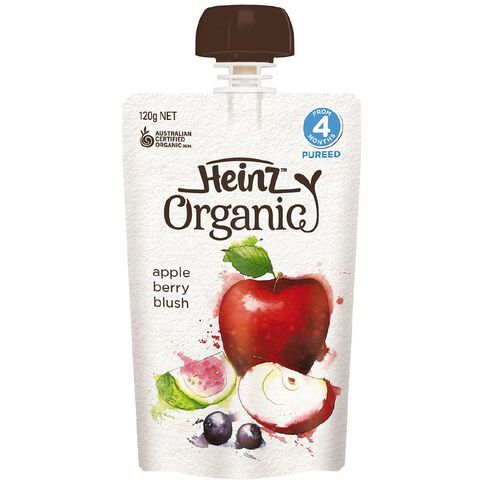 Heinz Organic Apple Berry Blush Pouch 120g