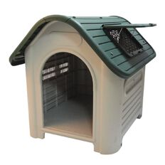 Fur'life Plastic Dog House Green Roof 870mm x 720mm x 755mm