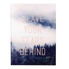 Deskwise Fashion Notebook Leave Your Fear Foil A4