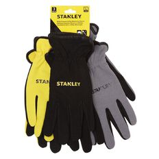 Stanley General Purpose Work Gloves 3 Pack Large