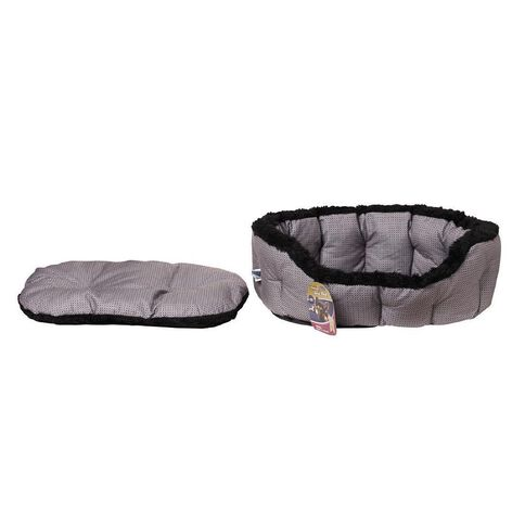 Pet Team Round Deluxe Bed Grey Large