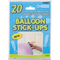 Unique Balloons Stick up 20 Pack