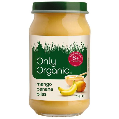 Only Organic Mango Banana Bliss 170g