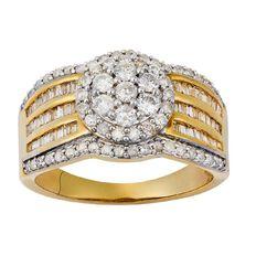 1 Carat of Diamonds 9ct Gold Diamond Dress Ring