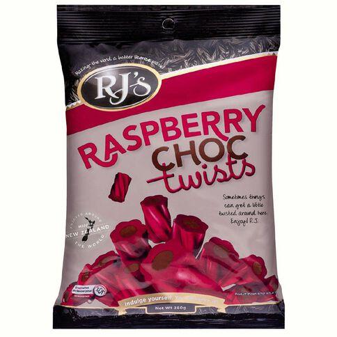 RJ's Raspberry Choc Twists 280g