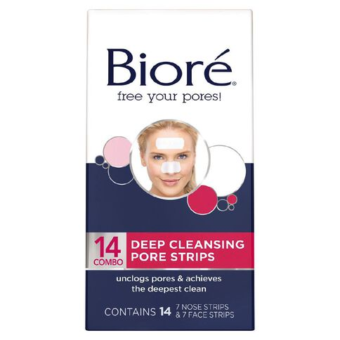 Biore Deep Cleansing Combo Strips 14 Pack