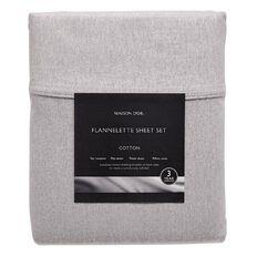 Maison d'Or Sheet Set Flannelette Slate Queen