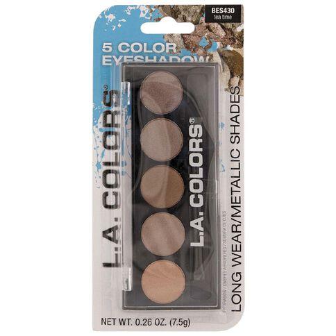 La Colors 5 Color Metallic Eyeshadow Tea Time BES430