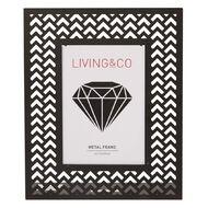 Living & Co Metal Frame Black 5in x 7in