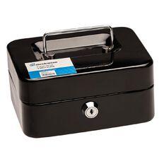 Deskwise Small Cash Box Black Small 6 inch