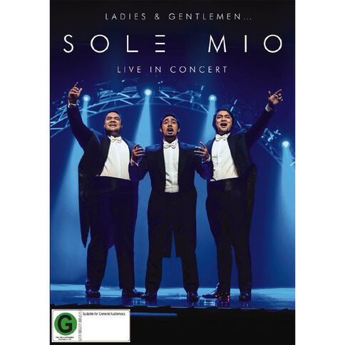 Ladies and Gentlemen Sol3 Mio Live in Concert Blu-ray by Sol3 Mio 1Disc