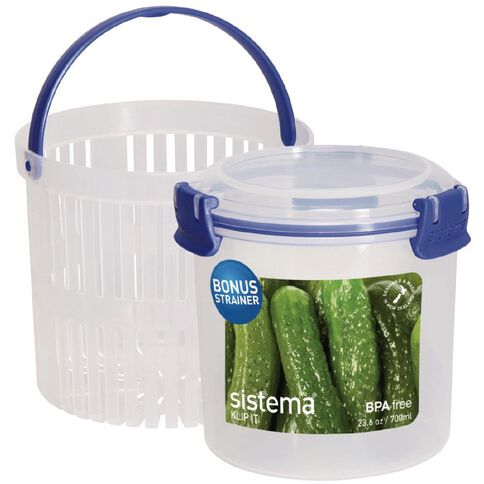 Sistema Klip It Blue Round Container 700ml