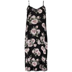 Garage Lace Trim Midi Dress