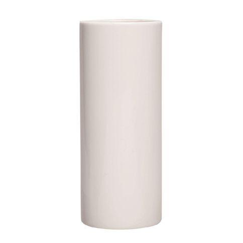 Necessities Brand Cylinder Vase White 8cm x 20cm