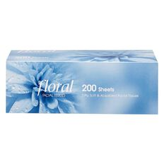 Floral Facial Tissue 200 Sheets x 2 Ply