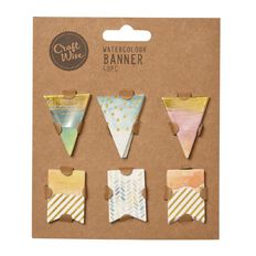 Craftwise Watercolour Banner 48 Piece