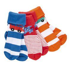 Hippo + Friends Boys' Turn Top Socks 3 Pack