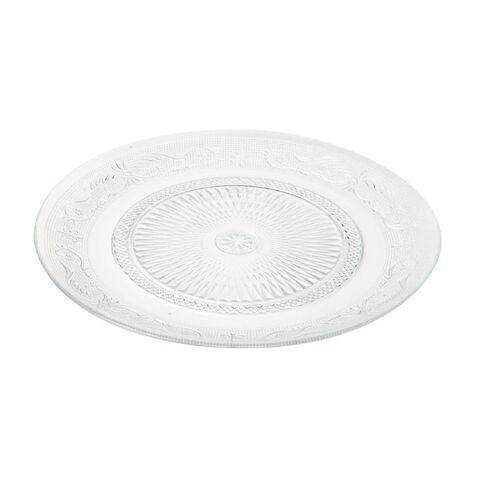 Necessities Brand Glass Platter Round 33cm