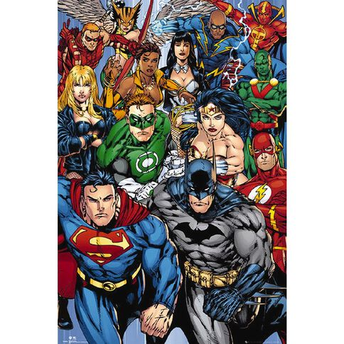 DC Comics Super Heroes Poster