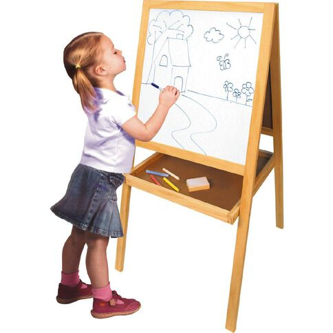 First Learning Double Sided Wooden Drawing Board