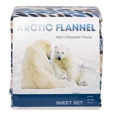 Arctic Flannel Sheet Set Print