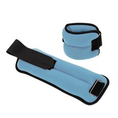 Active Intent Ankle Weights Pair 1.25kg x 2 Assorted Colours