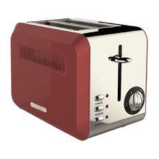 Living & Co Toaster Vintage 2 Slice Red