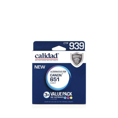 Calidad Canon Ink CLI-651 CMY 3 Pack