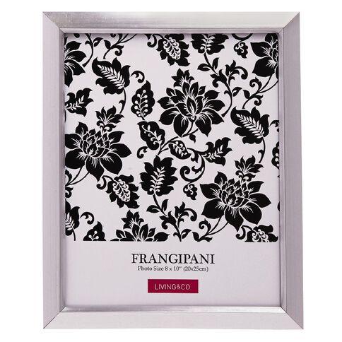 Living & Co Frame Frangipani Silver 8in x 10in