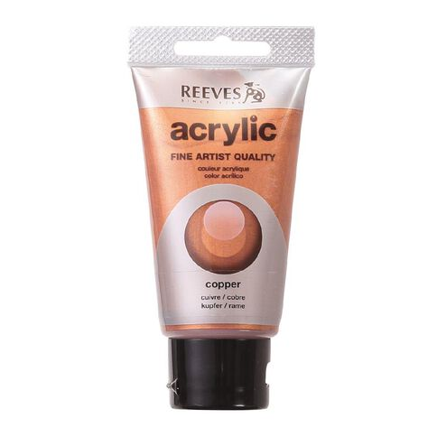Reeves Metallic Acrylic Paint Copper 75ml