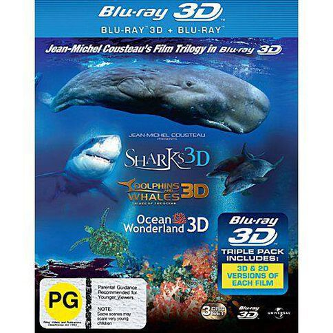 Dolphins & Whales/Tribes Of The Ocean Sharks Blu-ray + 3D Blu-ray 2Disc