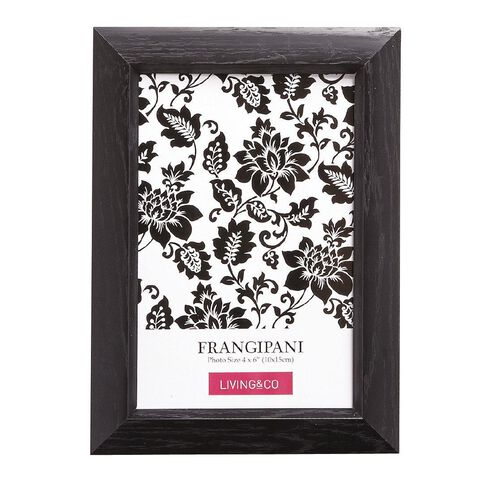 Living & Co Frame Frangipani Black 4in x 6in
