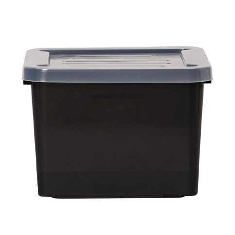 Living & Co Hobby Box with Lid Black 30L