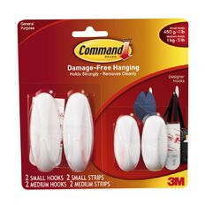 Command Small & Medium Designer Hooks Value Pack