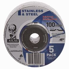 Atlas Angle Grinding Disc 100mm 5 Pack