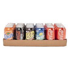 Coca Cola Can Mixed Tray 24 Pack New