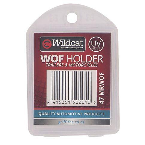 Wildcat Warrant Of Fitness Holder