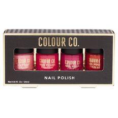 Colour Co. Nail Polish Pink Colours 4 Pack