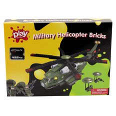 Play Studio Bricks Military Helicopter 452 Piece
