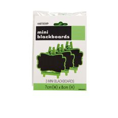 Meteor Mini Wooden Chalkboards Lime 3 Pack