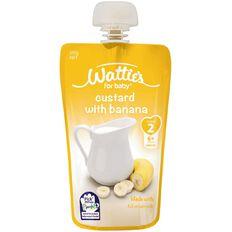 Wattie's Custard with Banana Pouch 120g
