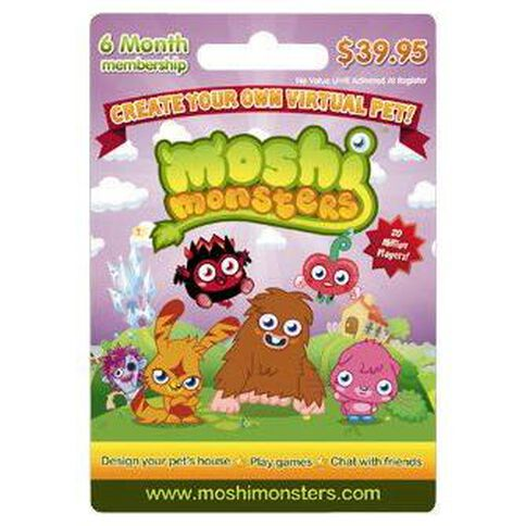Moshi Monster $39.90 Gift Card