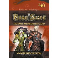 Runescape 100 Days Membership Card