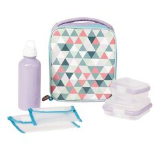 Necessities Brand Lunch Set Triangles Mint 7 Piece