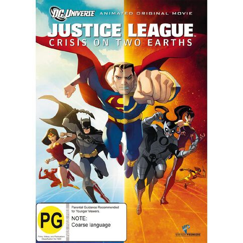 Justice League Crisis on Two Earths DVD 1Disc