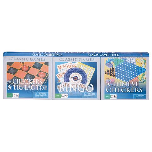3 Pack Bundle of Checkers Bingo & Card Games