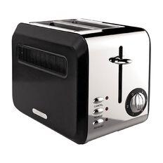 Living & Co Toaster Vintage 2 Slice Matte Black