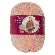 Knitwise Pricewise Yarn Hero Tones Jumbo 8-Ply Sherbet Fizz 300g