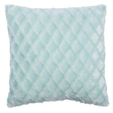 Living & Co Cushion Diamond Faux Fur